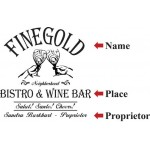 Finegold Bistro Personalized Oak Barrel