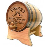 Finegold Bistro Personalized Oak Barrel