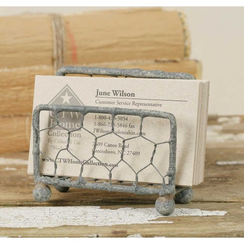 Chicken Wire Business Card Holder Set