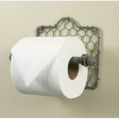 Chicken Wire Toilet Paper Holder Set