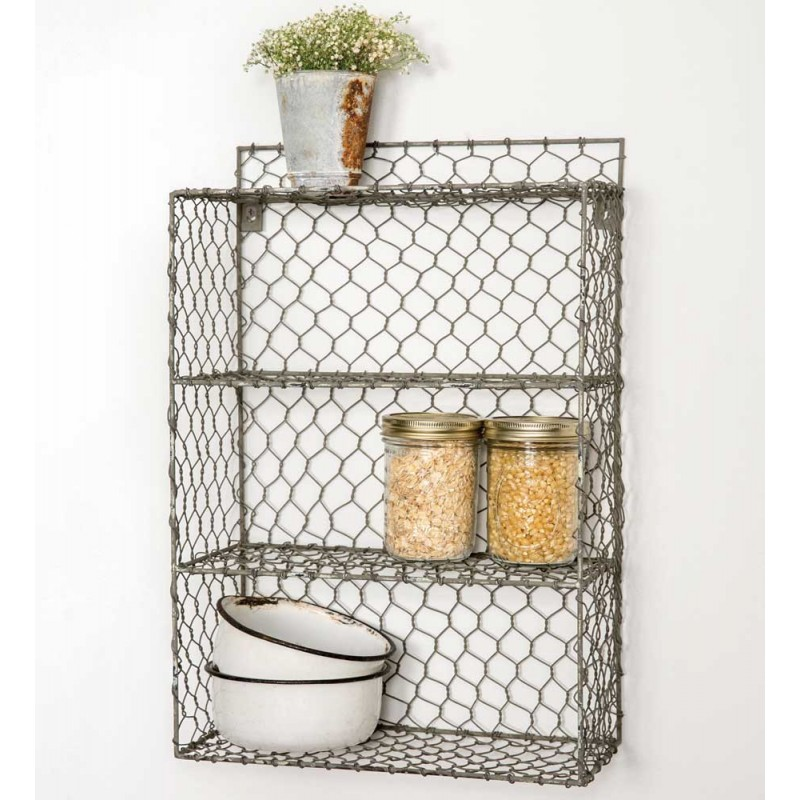 Chicken Wire Wall Cubbies | MountainBillyMercantile.com