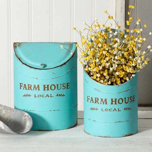 Farm House Local Kitchen Bin Set