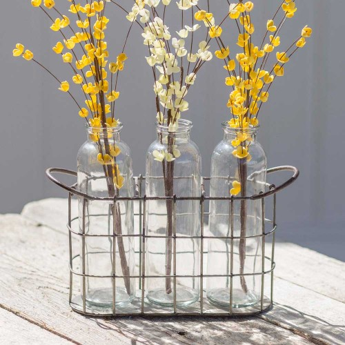 FarmHouse Vases with Caddy