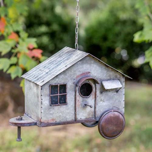 Happy Camper Metal Birdhouse