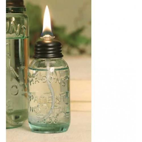 Miniature Mason Jar Oil Lamp Set Of 6