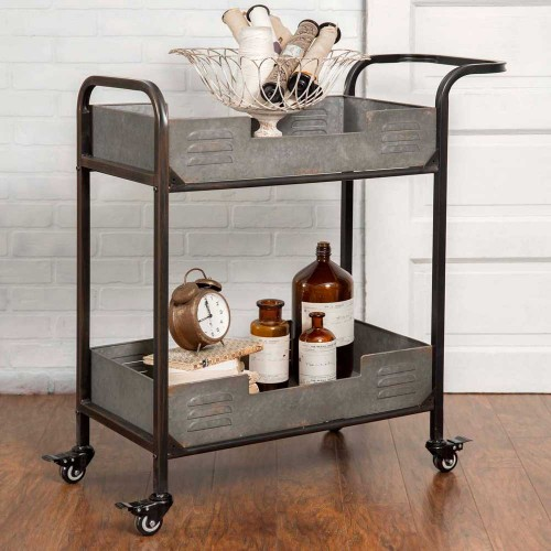 Two Tier Rolling Serving Cart