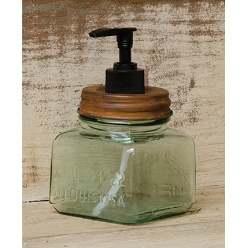 Rustic Jar Soap Dispenser