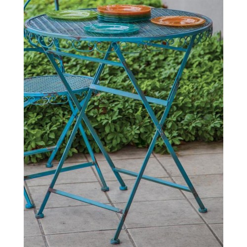 Blue Patina Bistro Table