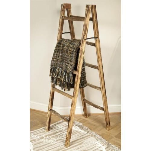 Decorative Ladder Throw Rack
