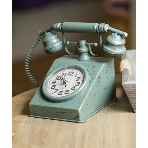 Retro Telephone Table Clock