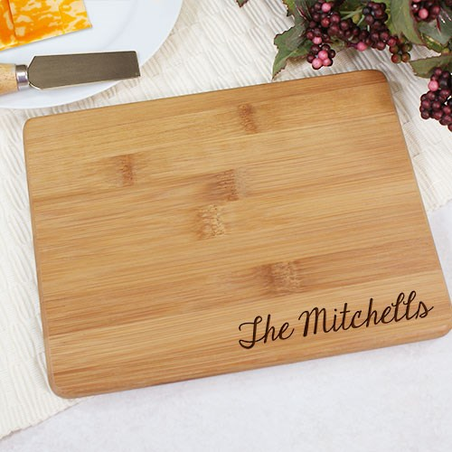 Bamboo Cheese Board Engraved
