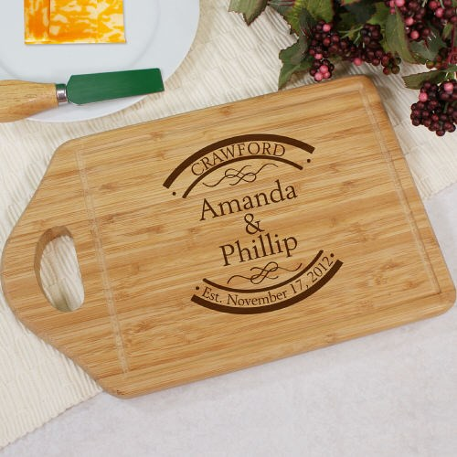 Bamboo Cheese Carving Board Engraved