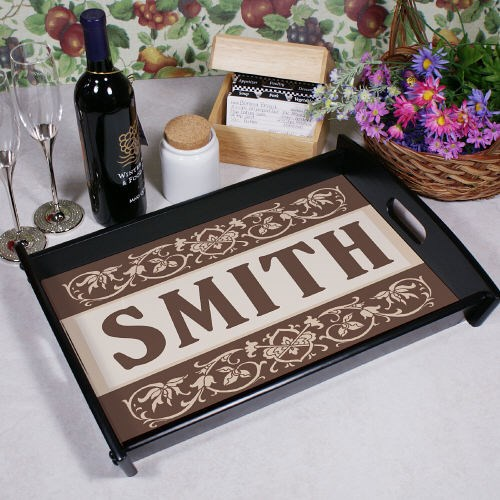 Family Serving Tray Personalized
