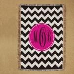 Monogram Tapestry Throw