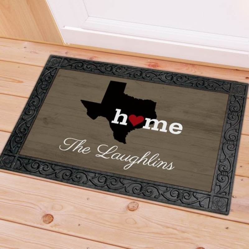 Personalized Home State Doormat