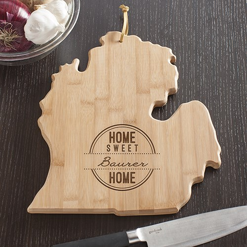 Home State Cutting Board Personalized