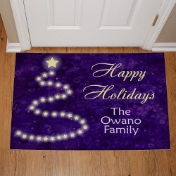 Happy Holidays Personalized Door Mat