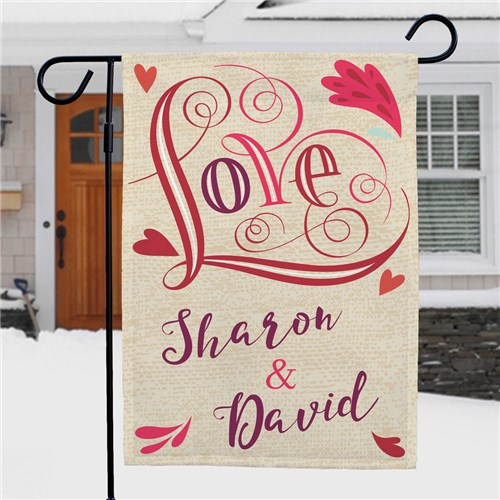 Love Garden Flag Personalized