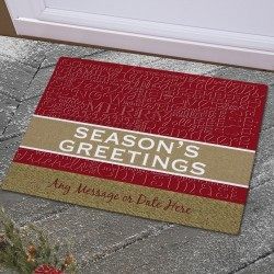 Christmas Words Door Mat Personalized